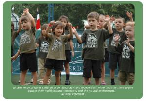Children at the Escuela Verde school