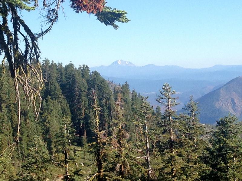 Mount Lassen's first appearance
