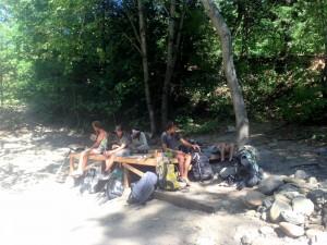 Hiker trash take over rave stage