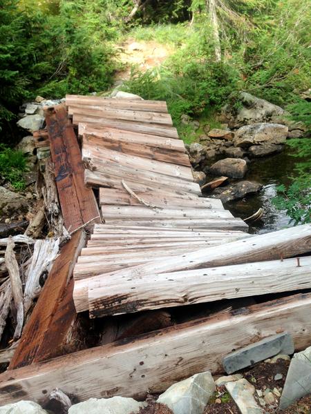 Trashed bridge