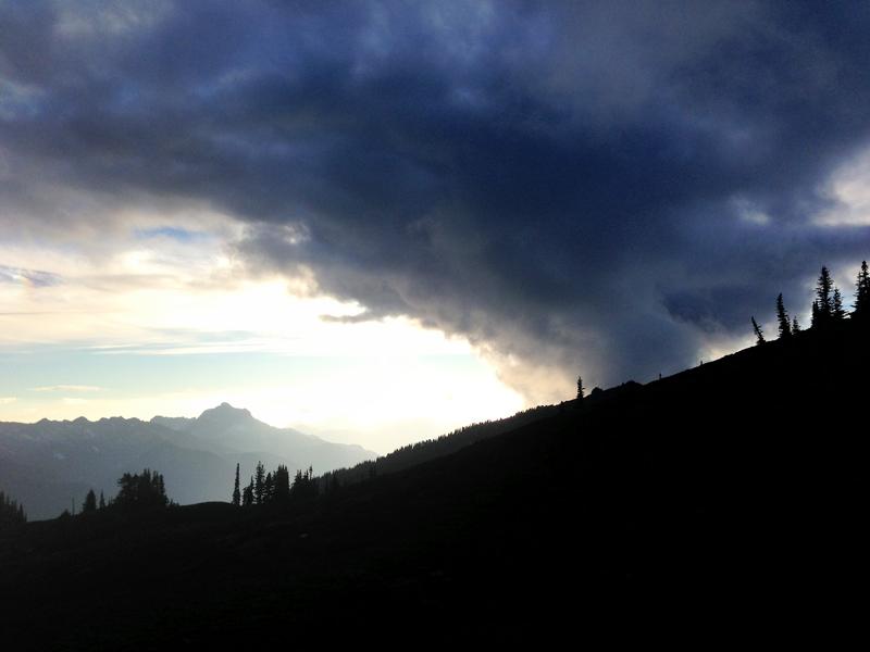 Smoking sunset