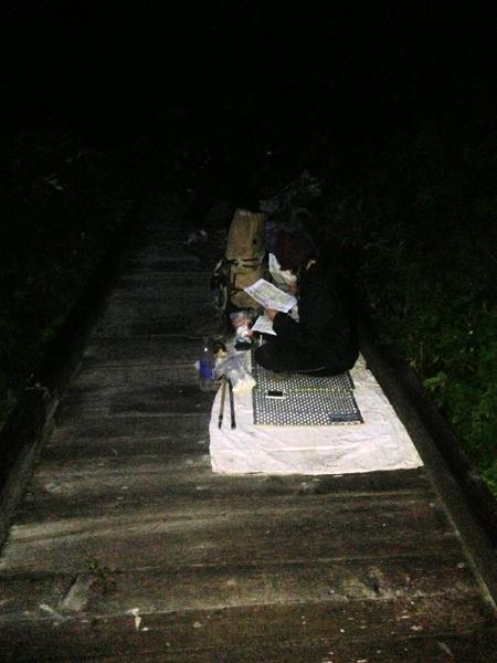 Camping on the bridge