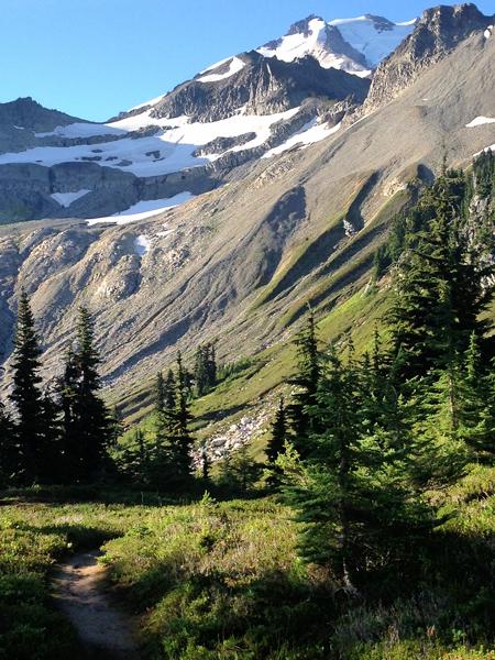 Blue skies in northern Washington